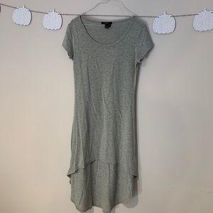 High-Low Gray T-Shirt Dress
